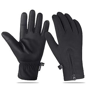 Unigear Touchscreen Handschuhe, Anti-Rutsch Full Finger Fahrradhandschuhe Wasserdicht Winddicht Laufhandschuhe Atmungsaktiv Geeignet für Winter Herbst Frühling
