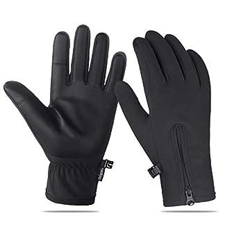 Unigear Guantes de Invierno Super Cálido Impermeable Pantalla Táctil A Prueba de Viento Antideslizante para Acampada y Senderismo Moto Ciclismo Hombre Mujer
