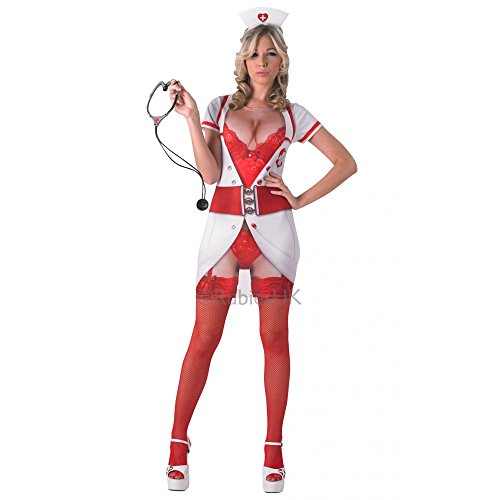 Unisex Echt Appeal Naughty Nurse-Für Erwachsene Kostüm Hirsch Hen Night Saucy Fun Sexy-klein ()