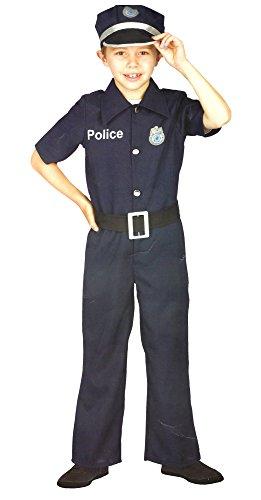Polizei Polizist Uniform Kinder Kostüm Karneval Fasching Verkleidung (104)