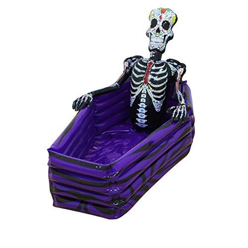 (DMGF Aufblasbare Kühler Trinken Eiskübel Skeleton Party Strand Pool Schwimmen Halloween Weihnachtsschmuck Spielzeug Outdoor Schädel Geschirr 102 * 30 * 26 cm)
