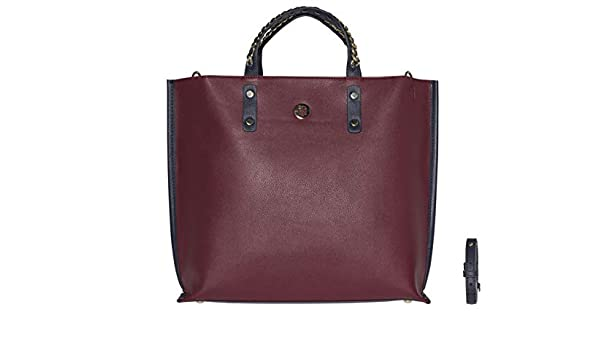 757d54019f291f TOMMY HILFIGER Tommy Chain Tote Burgundy  Amazon.co.uk  Shoes   Bags