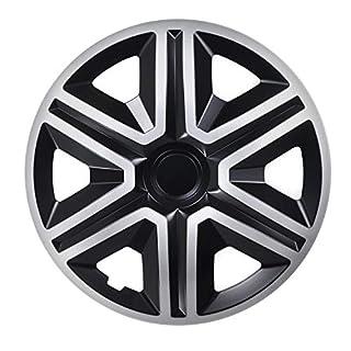 NRM Action Radzierblenden 4X Stück Universal Radkappen 4er Set (Silber-schwarz, 15
