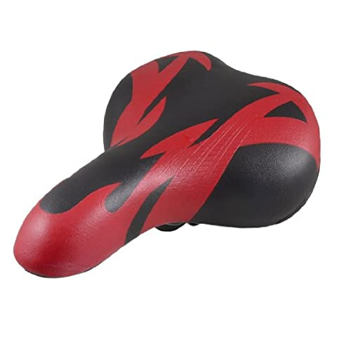 Red Black Soft Faux Leather Coated Foam Bicycle Seat Saddle Pading by COMO