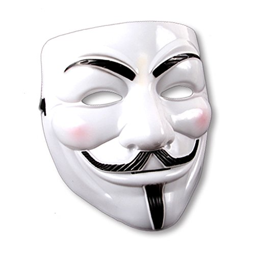 Vendetta For Anonymous Kostüm V (V wie Vendetta Maske Anonymous Maske Fawkes Maske Anonymous Kostüm Zubehör Maske Vendetta Verkleidung Accessoires)