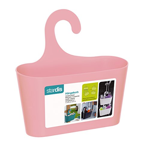 Duschkorb pink mit Haken zum Einhängen Duschregal Badregal Bad Utensilo Hängeregal