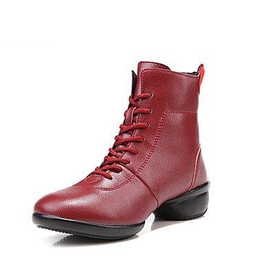 Wuyulunbi@ Donna Scarpe da ballo Real Sneaker giunzione esterna tacco piatto rosso sotto 1 ,rosso,noi6.5-7 / Eu37 / UK4,5-5 / CN37 US7.5 / EU38 / UK5.5 / CN38