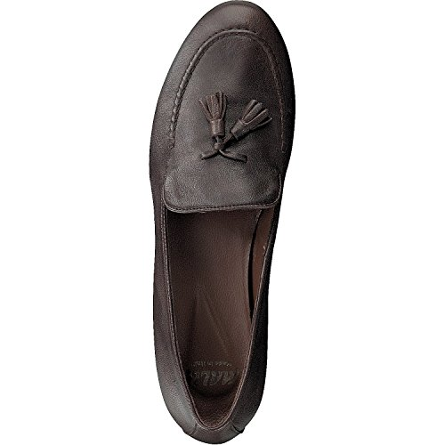Mally 4189 Damen Leder Slipper Mokkassins Italy toffy caffee poket