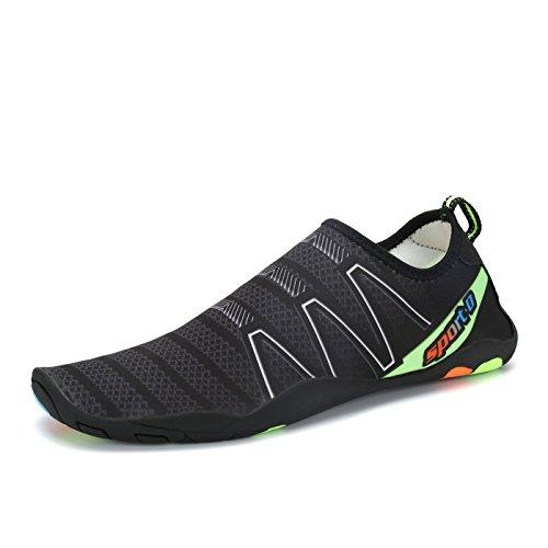 Voovix Aqua Skin Chaussettes À Séchage Rapide Pieds Nus Chaussures D'eau en Caoutchouc Sole Sneakers pour Natation Courir Yoga Surf Plage Chaussures de Sport Hommes Femmes