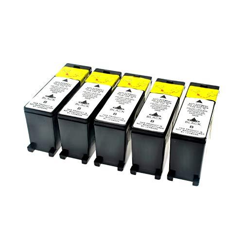 LS 5 Patronen für Lexmark 100 XL Black Schwarz je 510 Seiten, kompatibel zu 14N1068E (Lexmark Patrone Xl 100)