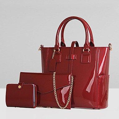 La donna pu formale / Casual / Ufficio & Carriera / Shopping Tote Bag / Imposta viola / blu / rosso / nero,viola Black