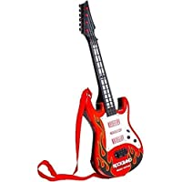 QUALITYZONE Rockband Musical Instrument Guitar Toy for Kids Boys Kids(red)