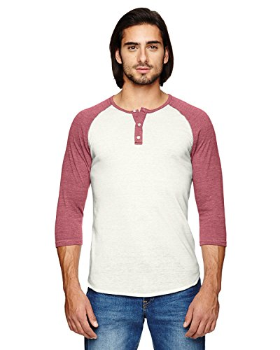 -Sleeve Raglan Henley EC IV/ EC T BURG XS (Alternative Apparel Raglan)