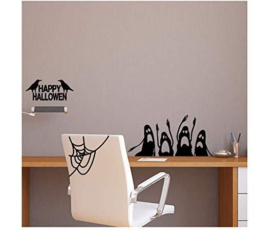 HYTGF Wandaufkleber Happy Halloween Wandaufkleber Fenster Dekoration