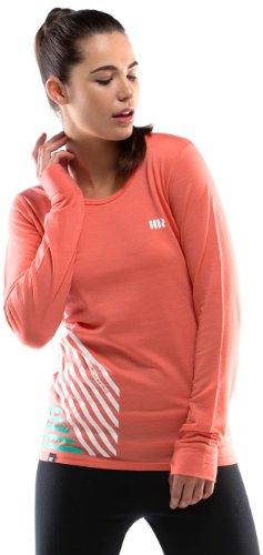 Mons royale original t-shirt à manches longues pour femme Orange - Corail