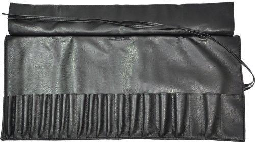 Pinceaux de maquillage vide Super doux titulaire de Roll-up sac 4 Mobile maquilleuse couleur noir CODE : 536B
