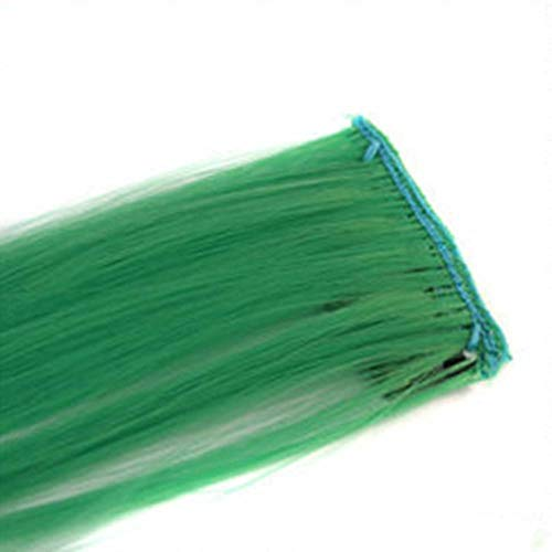 CHOULI Colorful 1PCS Synthetic Hair Extensions Women Hair Styling Long Straight Clip Dark Green