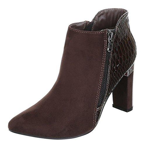 Damen Schuhe, XQ321, ANKLE BOOTS STIEFELETTEN Braun