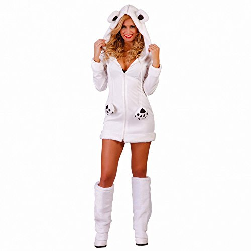 Eisbär Kostüm Gr. S Kleid Osita Plüsch weiß Tierkostüm Eisbärenkostüm ()