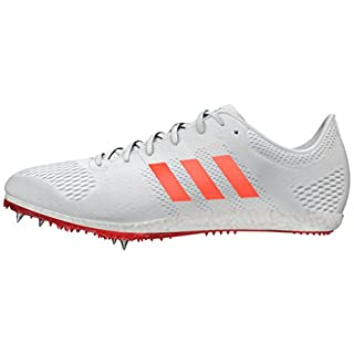 adidas Men's Adizero Avanti Running Shoes, (Footwear White/Solar Red/Silver Metallic), 9.5 UK 44 EU