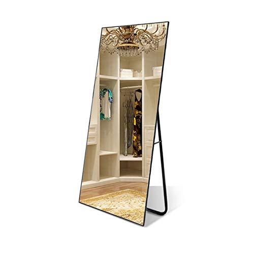 ⛪ Dekorspiegel weiß lackiert Holz rechteckig Cheval Floor, freistehender Spiegel Ganzkörperspiegel (Farbe : Schwarz) - Schwarz Cheval Spiegel