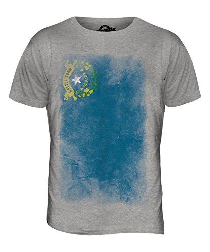 CandyMix Bundesstaat Nevada Verblichen Flagge Herren T Shirt Grau Meliert