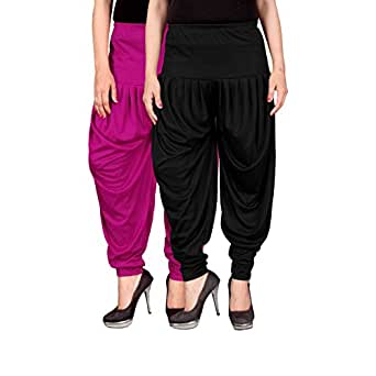 Culture the Dignity Women's Lycra Dhoti Pants Combo Pack of 2 CTD2_F_$P$_1 Freesize