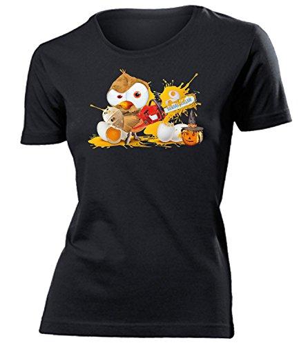 Halloween Eule Serial Killer 5855 Kostüm Damen Fun-T-Shirts Schwarz XL
