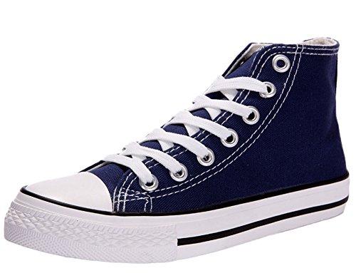 Lorraine Time Unisex Sandalette Boden Turnschuhe Schuhe Freizeit koreanische Studenten Volltonfarbe Stiefel Blau