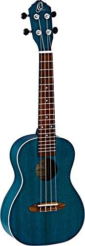 Ortega Guitars – RUOCEAN RUFOREST Earth Series, Konzert-Ukulele, Okoume Oberteil & Körper, transparentes Ozeanblau