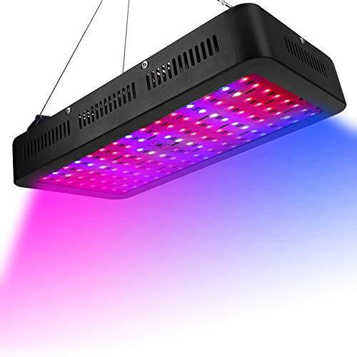 YINSY 1200W LED Wachsen, Full Spectrum Für Zimmerpflanzen, Gemüse Und Blumen, Führt Pflanze Leuchten, Mit Justierbarem Seil Und Funktion Daisy Chain (120Pcs 10W LED) -
