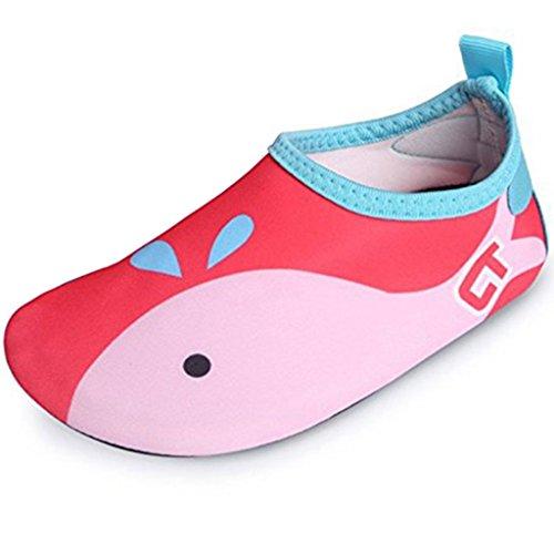SITAILE Aquaschuhe Barfuß Schuhe Schwimmschuhe Badeschuhe Wasserschuhe Surfschuhe Sportschuhe für Kinder Rot EU 24-25