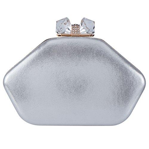 Bagood , Damen Clutch Silber
