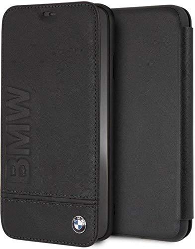 BMW BMFLBKI65LLSB Booktype Case Genuine Leather - iPhone XS Max- Black