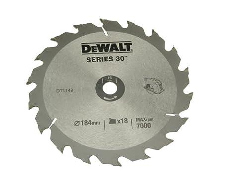 DeWalt DT1149QZ 184 x 16 x 18-Tooth Circular Saw Blade Series 30
