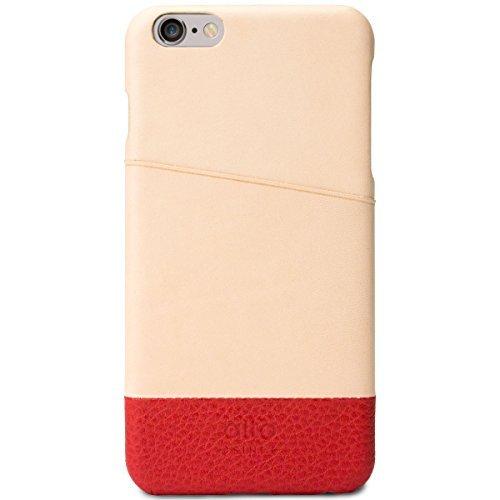m Italienischem Leder Wallet Schutzhülle für Apple iPhone 6Plus & iPhone 6S Plus Metro, H 16cm * W 8.1cm * D 0.95cm, Original/Red ()