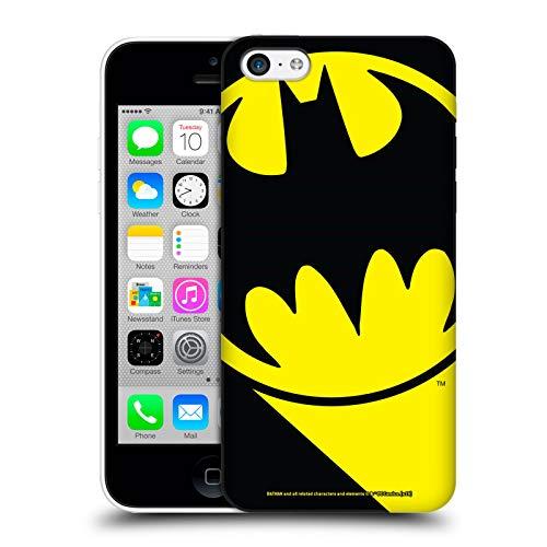 Head Case Designs Offizielle Batman DC Comics Bat Signal Logos Harte Rueckseiten Huelle kompatibel mit iPhone 5c (Bat 5c Phone Case)
