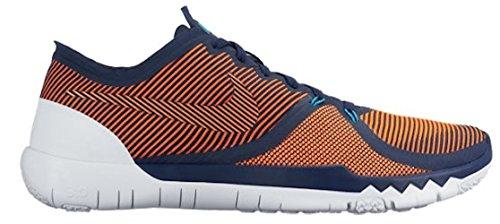 Nike Free Trainer 3.0 V4, Chaussures de Fitness Homme Midnight Navy, Hyper Orange