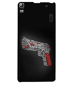 FUSON Designer Back Case Cover for Lenovo A7000 :: Lenovo A7000 Plus :: Lenovo K3 Note (My Name Is The God Upon Thee Evil New Strike Down)