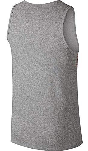 watch af646 a6029 Nike Mens Dry Swoosh Cotton Tank Top (M, Dark Grey HeatherUniversity Red