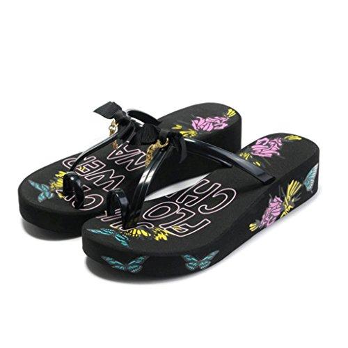 Pantoufles Femme Summer Fashion Version des Sandales à Semelles épaisses