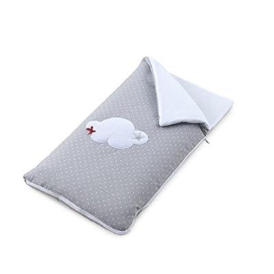 Funny Baby Codream - Saco-colcha minicuna colecho, diseño motitas nube, color gris