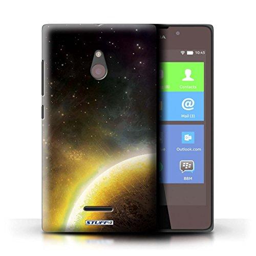 Kobalt® Imprimé Etui / Coque pour Nokia XL / Nébuleuse Orange conception / Série Cosmos Planète Jaune
