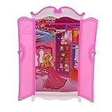 Sharplace 1 Pieza Lindo Armario de Traje de Dormitorios Accesorios para 30cm Casa de Muñecas Barbie