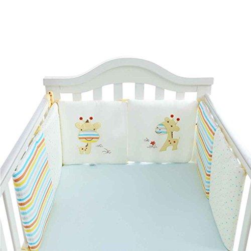 Baby-krippe Bettwäsche-auto (Focus 6Pcs / set Baby-Bett Auto Krippe-Karikatur Auto Newborn Bed Schutz Cradle Auto Kleinkind Kinderbett Bettwäsche-Set Giraffe)