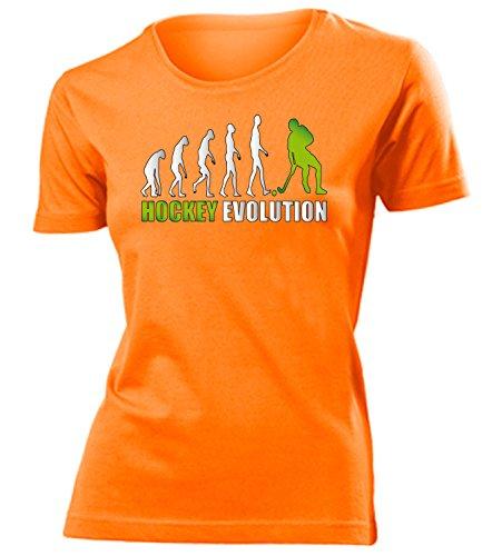 Hockey Evolution 618 Damen T-Shirt (F-Ora-Weiss-Grün) Gr. XXL