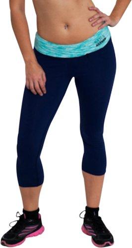 Sara Crave Yoga-Hose, Damen, Fitness-Kleidung, Supplex-Stoff für ultimative Passform und Komfort - Blau - Groß - Supplex Yoga-hose