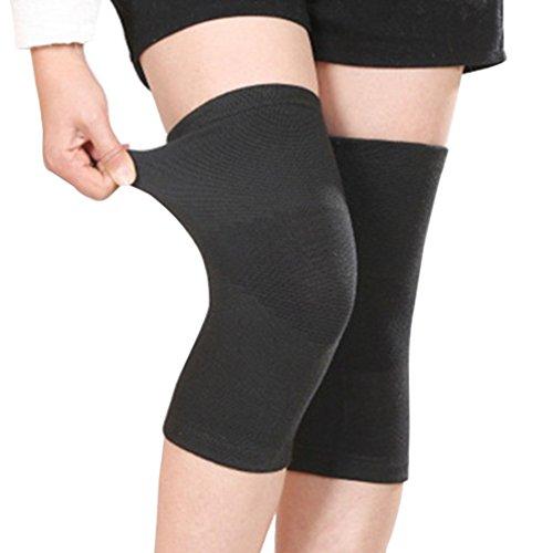 Mxixi compression atmungsaktive neopren knie unterstützung halle knieunterstützung wolle kniebandage pads winter warme thermische kniewärmer hülse (schwarz)