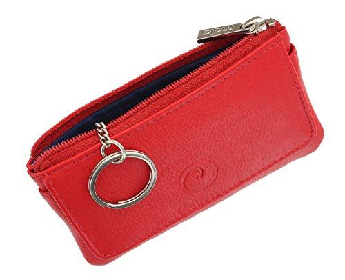 Portafoglio di pelle Mala Leather. Collezione ORIGIN - con protezione RFID 4110_5 Verde Rosso
