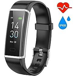 FUGAR Pulsera Actividad Pulsera Inteligente con Pulsómetro Impermeable IP68 Reloj Inteligente Monitor de Calorías, Sueño,Podómetro Pulsera Deporte Mujer Hombre Niño para Android y iOS Teléfono móvil